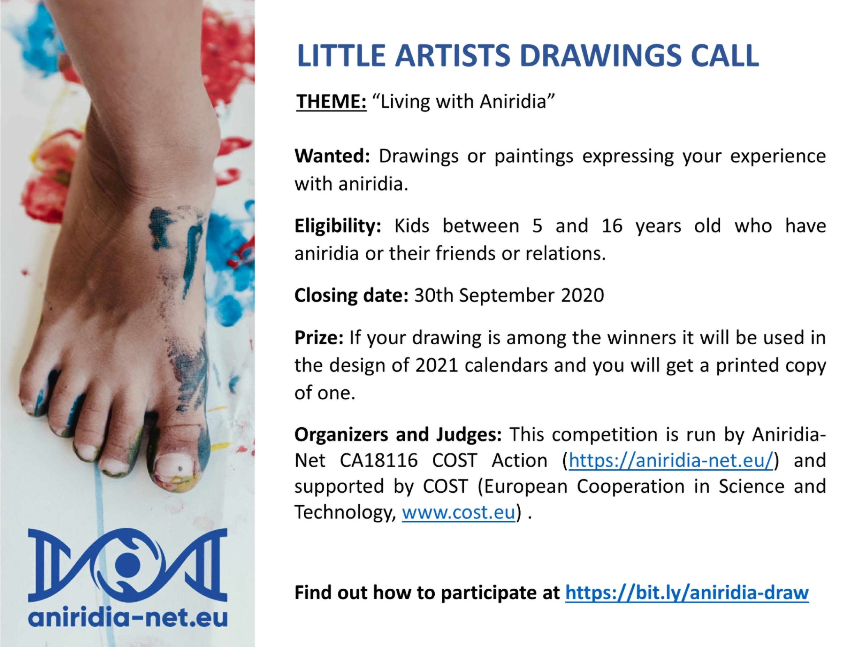 Aniridia: little artists drawings call
